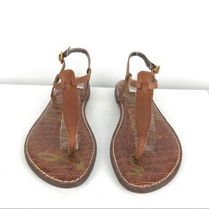 Sam Edelman Shoes - Sam Edelman Gigi Brown T Strap Sandals 7.5